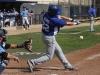 Mason Adams, third baseman for San Bernardino Valley College, swings at a pitch from Warriors' pitcher Alex Navarrete during the Warriors Feb. 16 game.