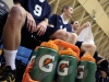 Warriors Men's volleyball players watch from the bench as their teammates take on Grossmont College Feb. 20.