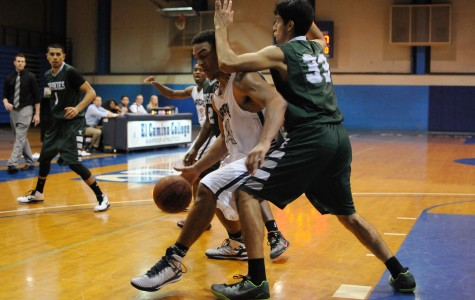 Men's basketball team falls one point short in comeback bid against ELAC