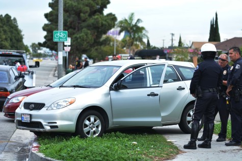 Two-car crash shuts down eastbound lanes of Redondo Beach Boulevard