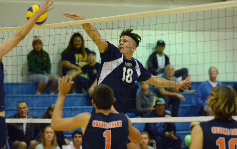Men's volleyball team topples state champion Orange Coast Pirates