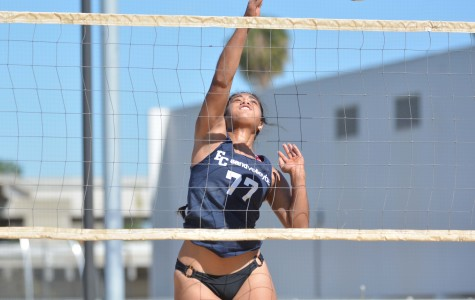 Hot weather not a problem as sand volleyball team turns up the heat and sweeps LBCC