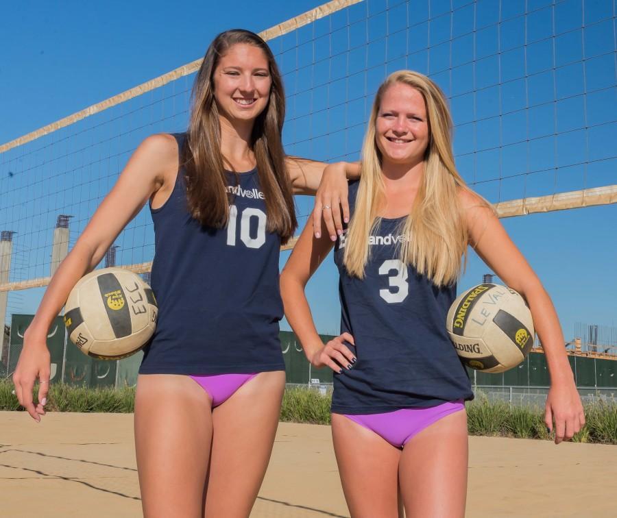 Womens college beach volleyball