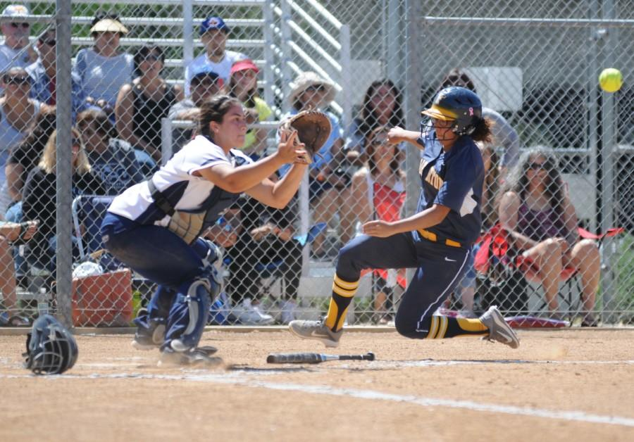 Softball team claims game one of Fullerton playoff series