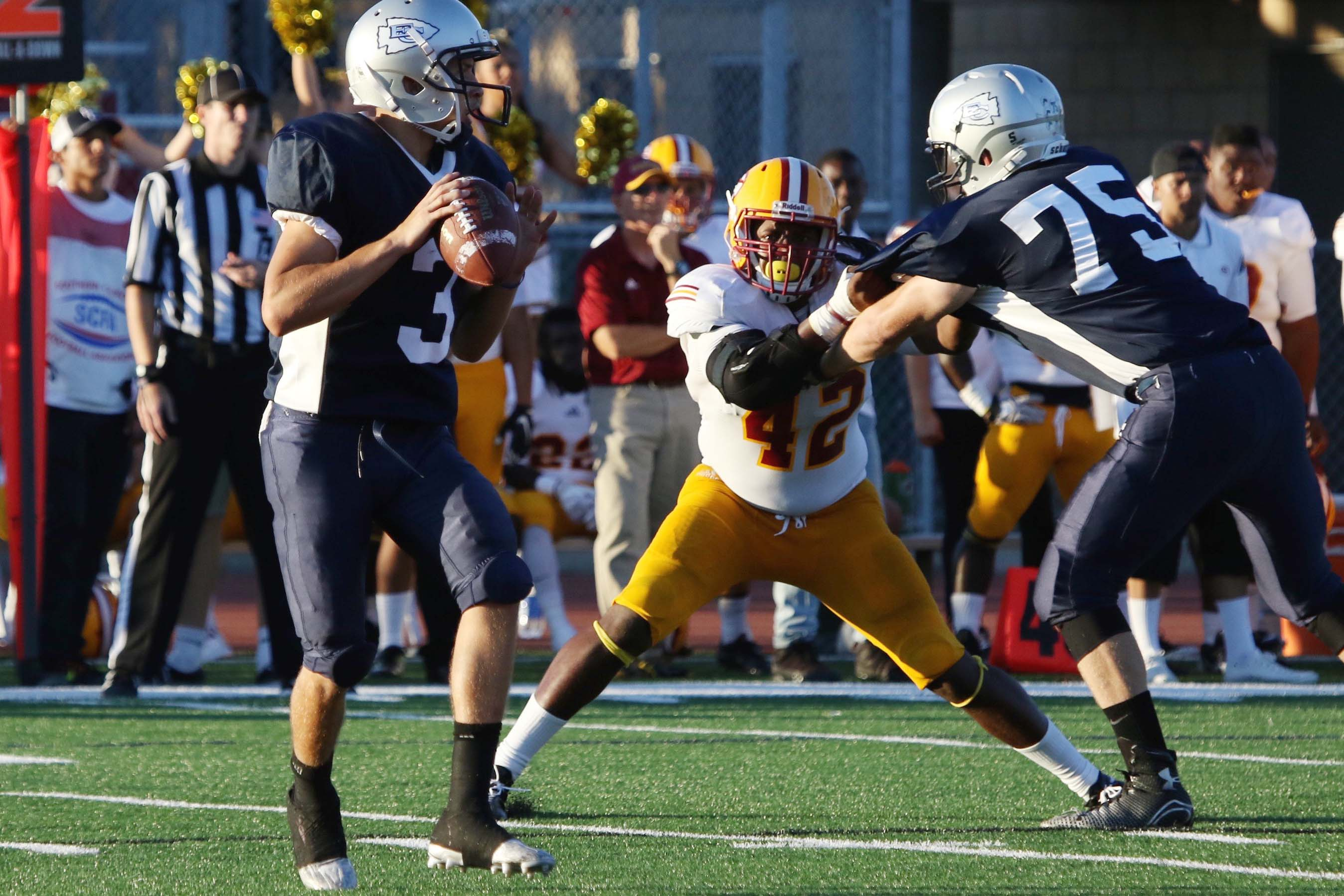 Football team loses to Saddleback in rout