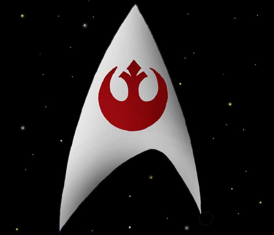The USS Enterprise is no match for the Millennium Falcon