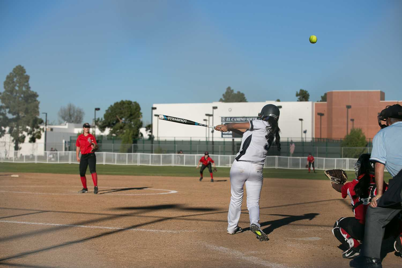 Offense stalls as softball splits doubleheader