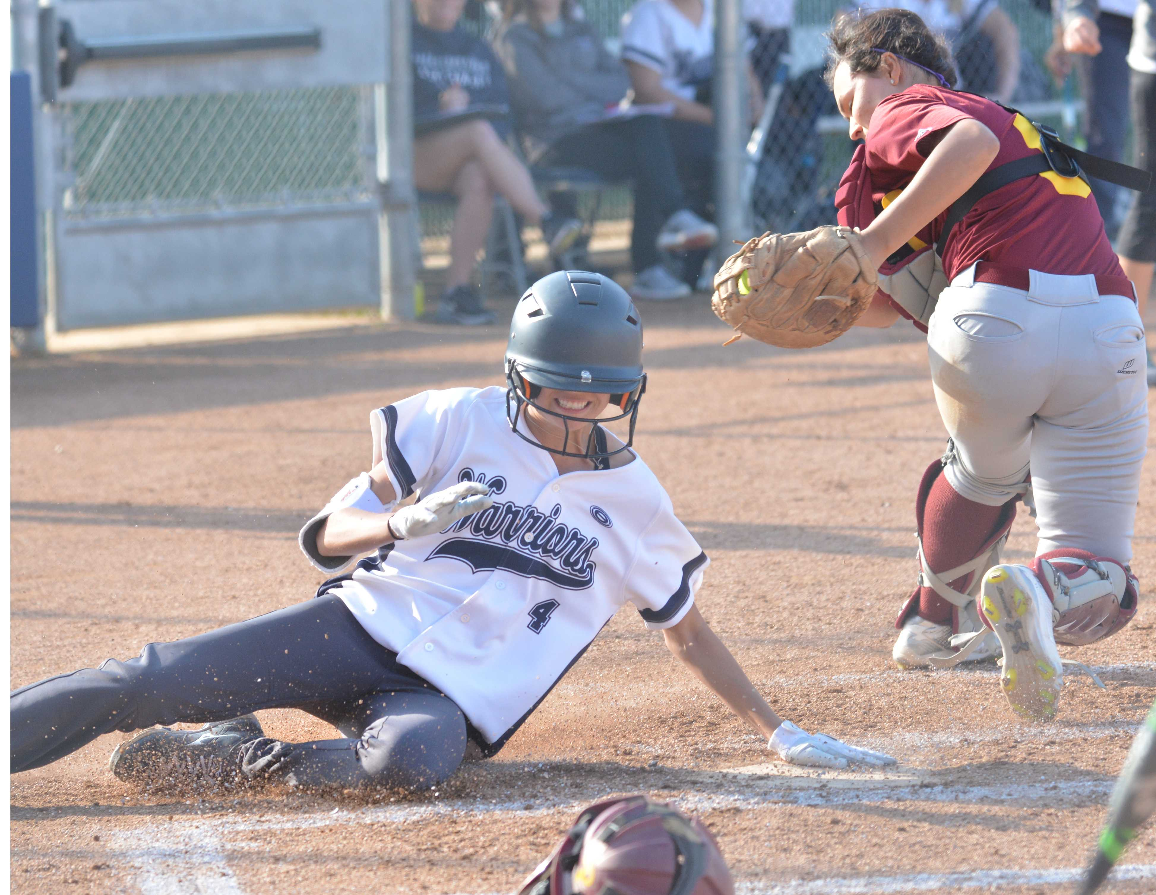 Offense erupts in second inning as softball pummels Pasadena City College