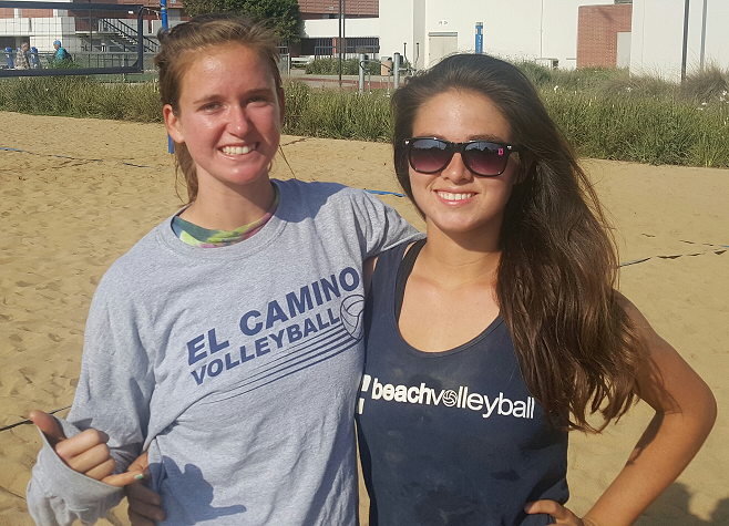 No. 4 beach volleyball team has pair of newcomers