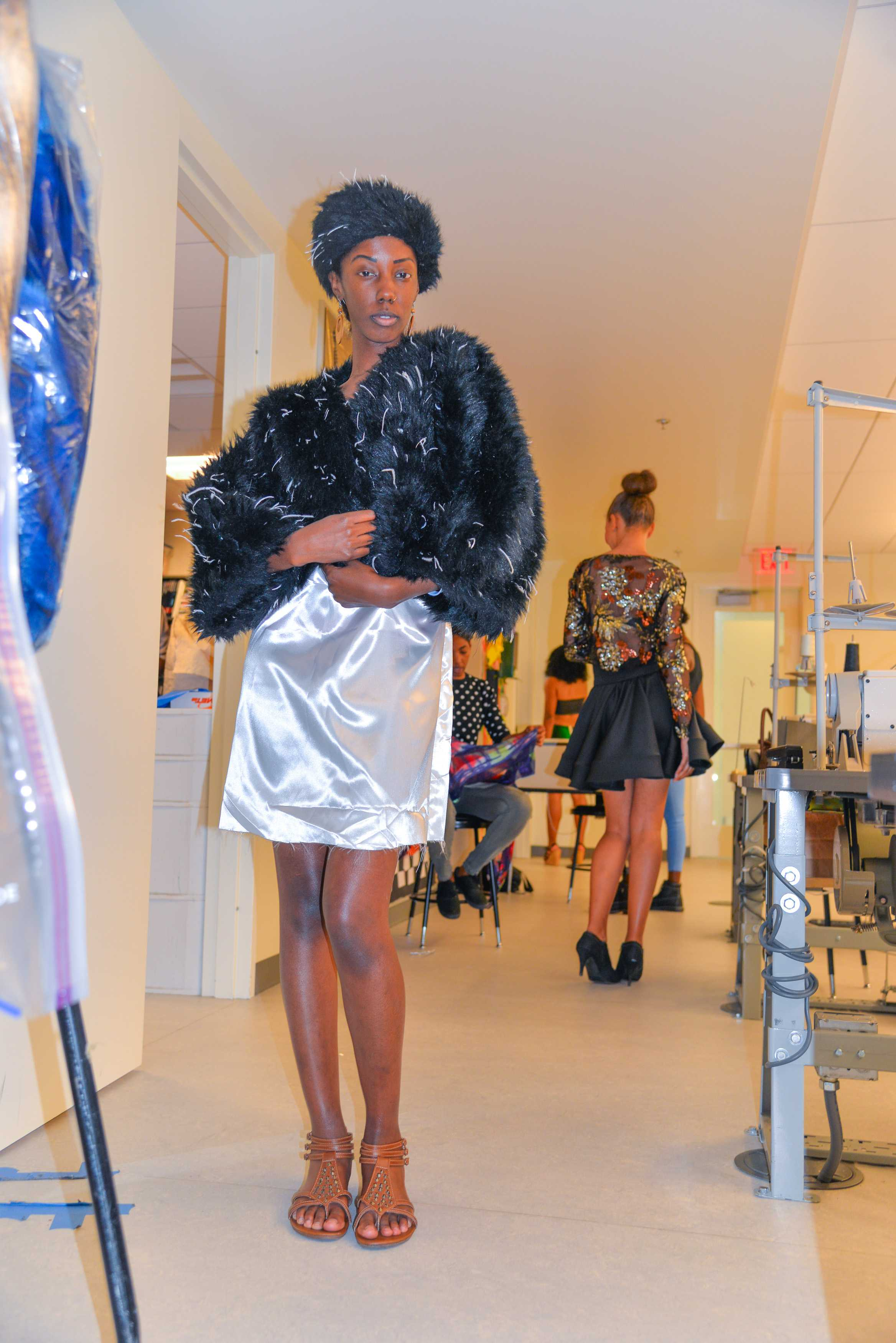 Shoulders up, Chin at the perfect angle and heels down: Models get ready for upcoming fashion show