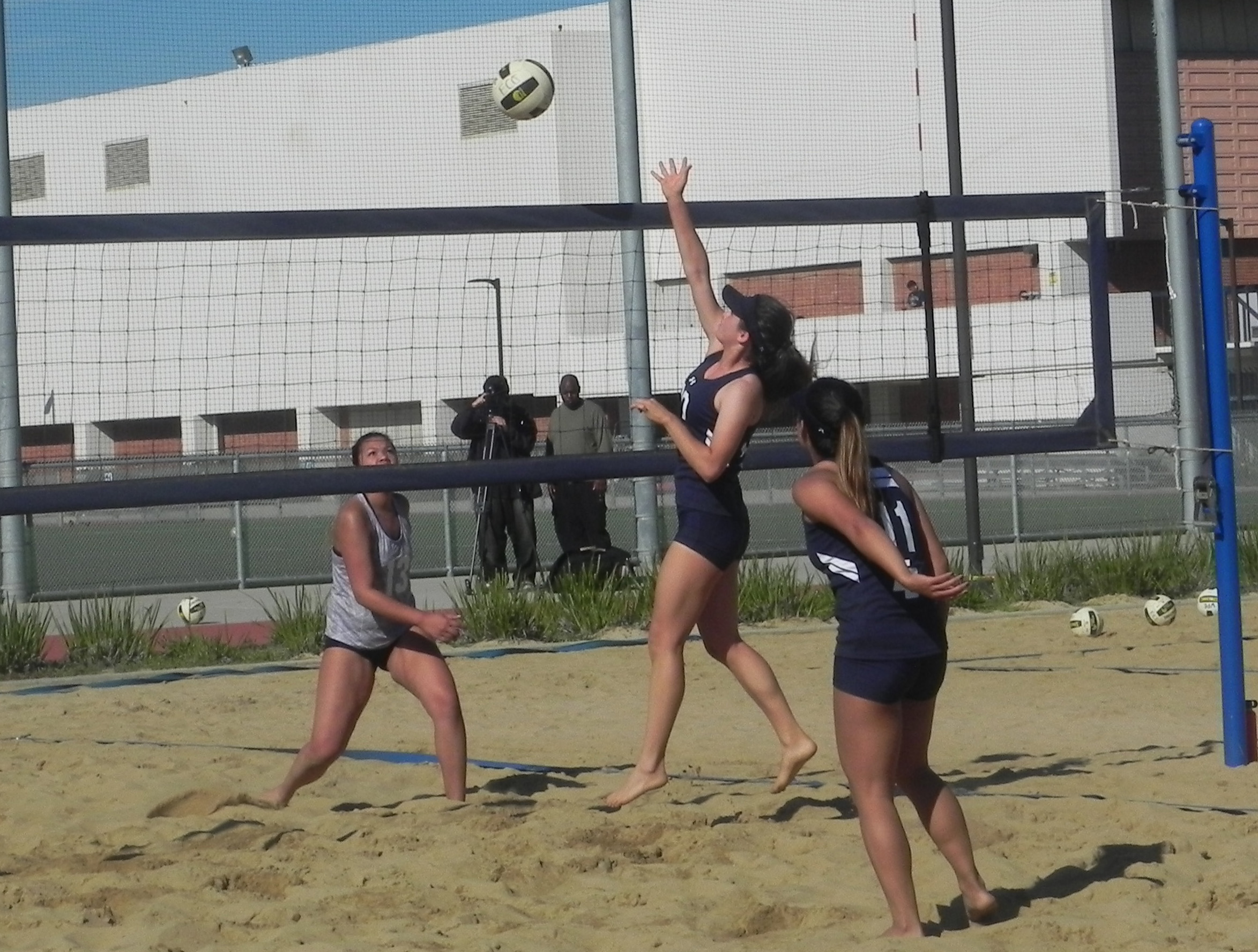 El Camino beach volleyball team opens season with home-win vs. Cypress College