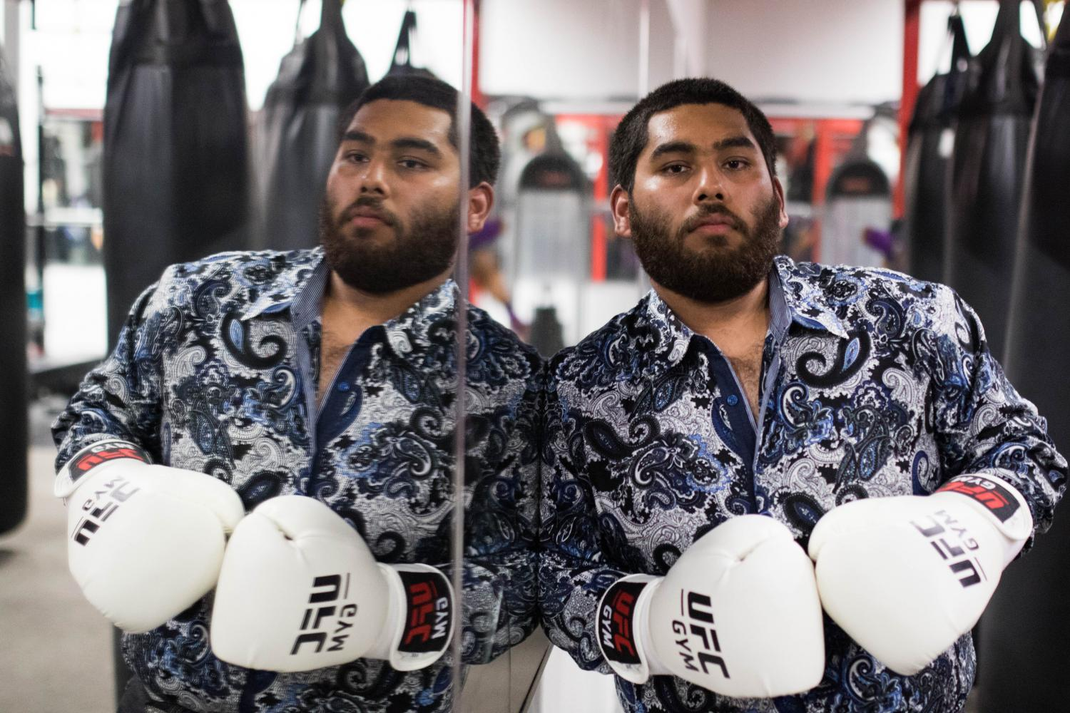 Ex-bully builds his character through practicing mixed martial arts at the UFC gym
