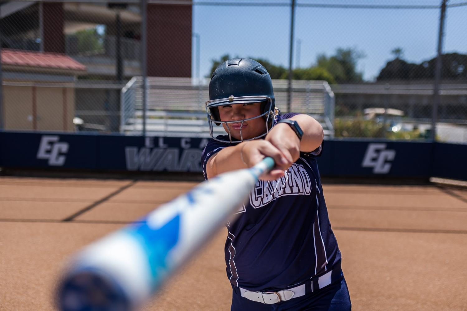 Sophomore+first+baseman+Kamryn+Fisher+earned+Honorable+Mention+from+the+California+Community+College+Athletic+Association.+Photo+credit%3A+John+Lopez