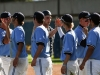 Warriors baseball team players congratulate each other Feb. 16 after their 12-3 win over San Bernardino Valley College.