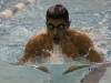 Patrick gracefully glides through the water during his 200 breast stroke at El Camino College on Friday.
