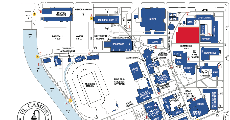 El Camino College >> El Camino College Campus Map World Map Gray