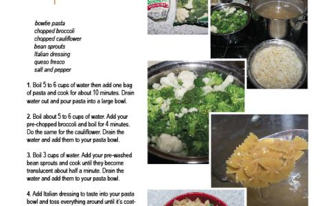 Cold veggie pasta