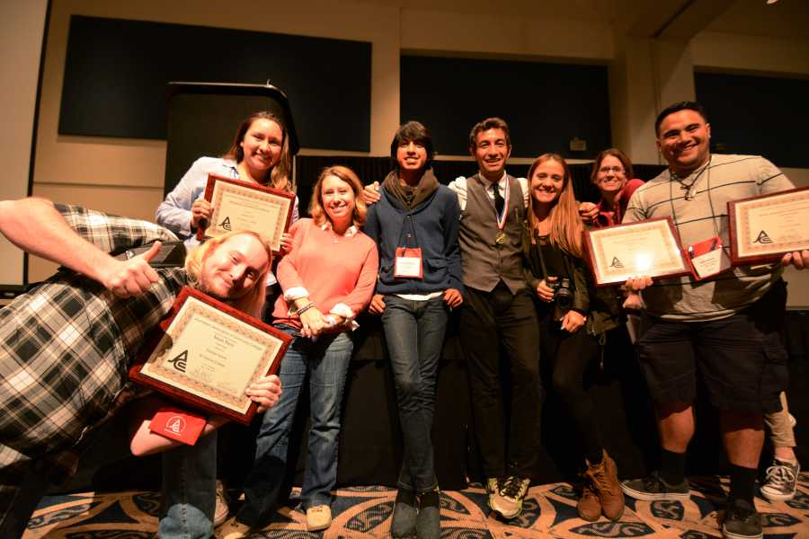 Union+staff+members+at+the+Journalism+Association+Of+Community+Colleges%2C+Southern+California+region+conference+awards+ceremony+on+Saturday+Oct.+18%2C+2014+at+California+State+University%2C+Fullerton.+Several+Union+staff+writers+competed+in+on+the+spot+competitions+and+attended+journalism+workshops.+Photo+credit%3A+John+Fordiani