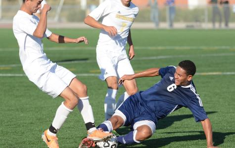 EC men's soccer team has title hopes erased in first round after 2-1 defeat