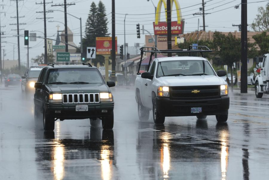 Rainy weather is to continue this afternoon into tomorrow morning, creating slick roadways. The California Highway Patrol advises drivers to reduce their speed and increase distance between vehicles on wet roadways. Photo credit: John Fordiani