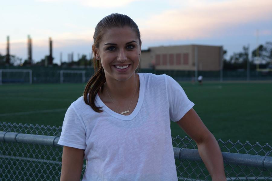 Olympic gold-medalist, Alex Morgan, featured  in a youth camp for girls in EC's soccer field in January. Morgan will head to Canada this summer to compete in the Women's World Cup. Morgan is one of the US' top ten goalscorers of all time. Photo credit: John Fordiani