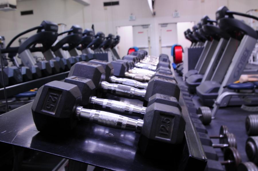 The+Fitness+Center+houses+multiple+pieces+of+exercise+equipment+for+students+and+faculty+to+use.+The+center+is+located+in+the+North+Physical+Education+Wing+and+is+open+to+students+enrolled+in+PE+courses+and+faculty.+Photo+credit%3A+Armando+Zelaya