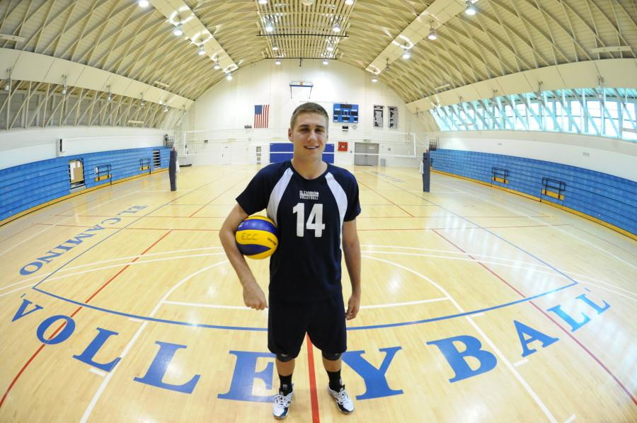 Sophomore setter Chris Griebenow is the leader in overall assists in the Western State Conference this season with 423. He is also the leading setter in the WSC with 666 overall assists and he led in assists per set in the WSC with an average of 10.58. Photo credit: John Fordiani