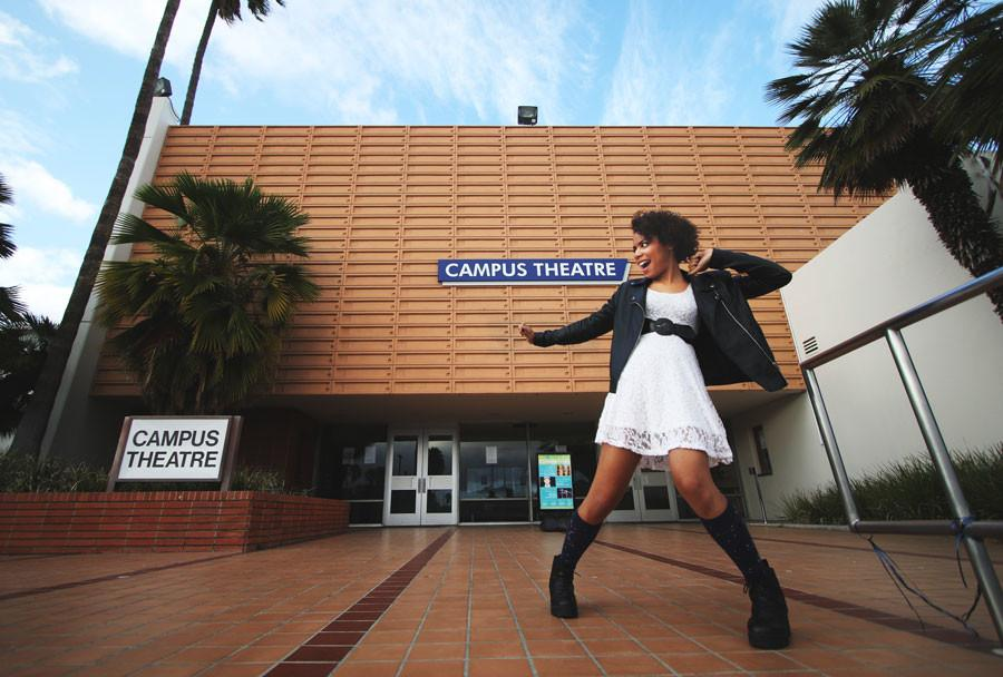 """Maya Hardison, 21, visual arts major, is a student director who also starred in """"Lysistrata"""" and """"The Laramie Project,"""" which premiered last semester. Photo credit: Jorge Villa"""