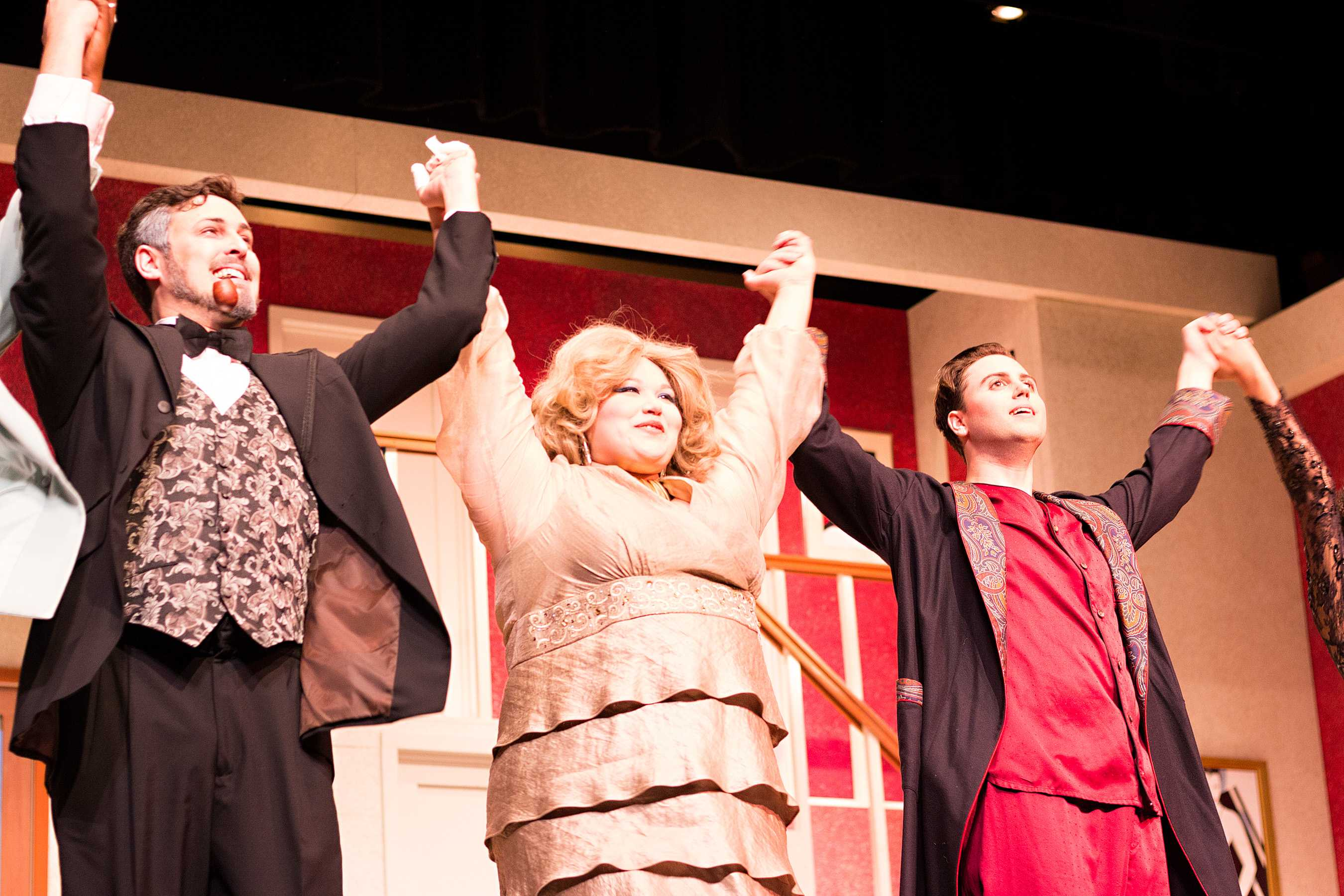 Cast members of the play,