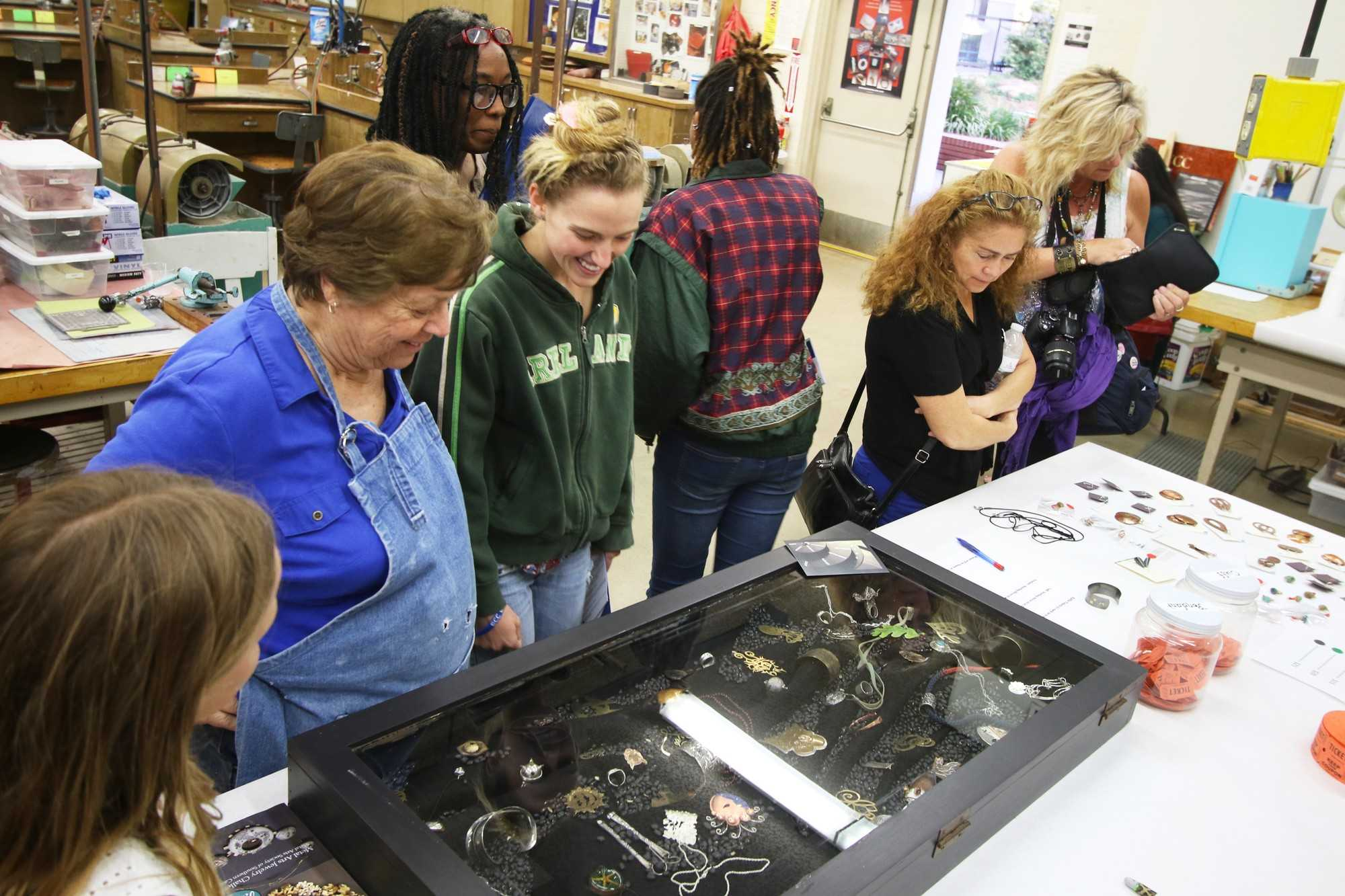 The Fine Arts Division Open House hosted an exhibition showcasing hand-made jewelry Friday, April 22.