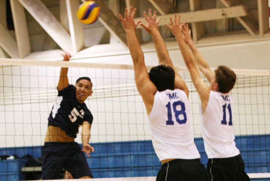 Freshman+outside+hitter+Chris+Phanngam+attacks+the+ball+against+Santa+Monica+College+on+Wednesday+night.%0AThe+Warriors+would+lose+in+five+sets+against+the+Corsairs.+Photo+credit%3A+Juan+Urquiaga