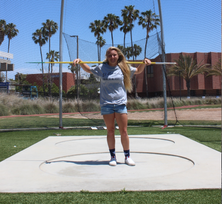 Nicole Clark finished the season as conference champion in the javelin. Photo credit: Brandon Park