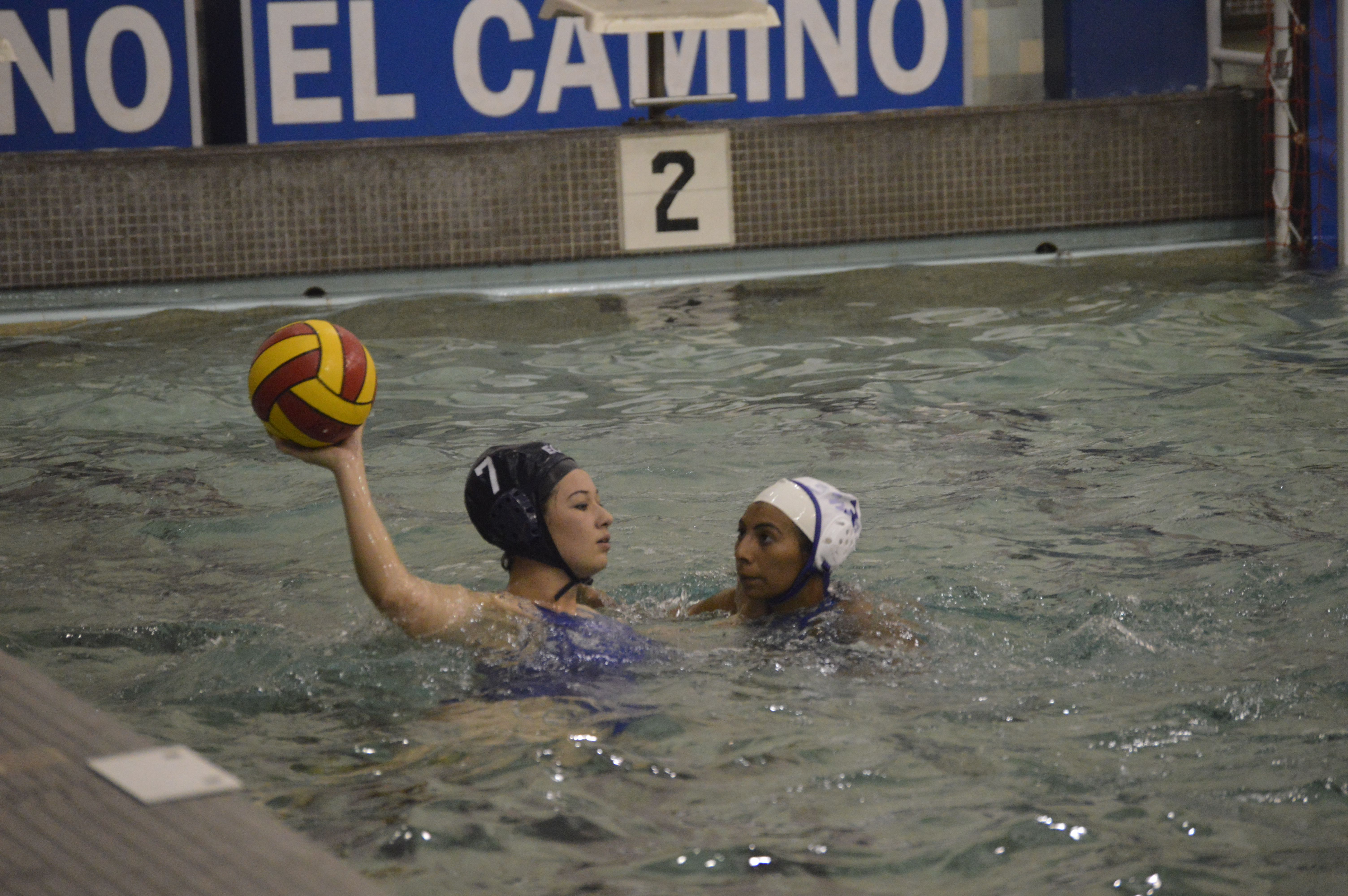 El Camino women's water polo team defeated SMC in game one; fall to L.A. Valley College in game two.