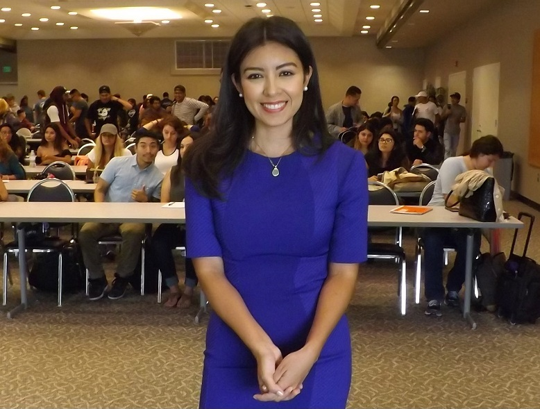 ABC7's general news reporter Anabel Munoz came to El Camino to talk about her life and journey as a multimedia journalist on Thursday, Sept. 22. Photo credit: Shontel Leake