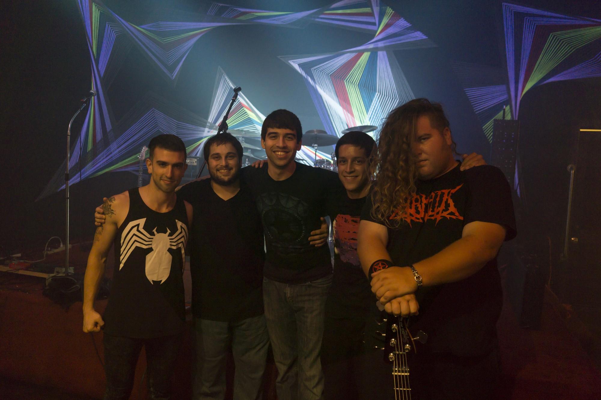 Aeonic Impulse (Left to Right): Gasper Gray (Lead Vocals) Jordan Salfity (Lead Guitars/Backup Vocals) Ryan Rappaport (Rhythm Guitars) Fernando