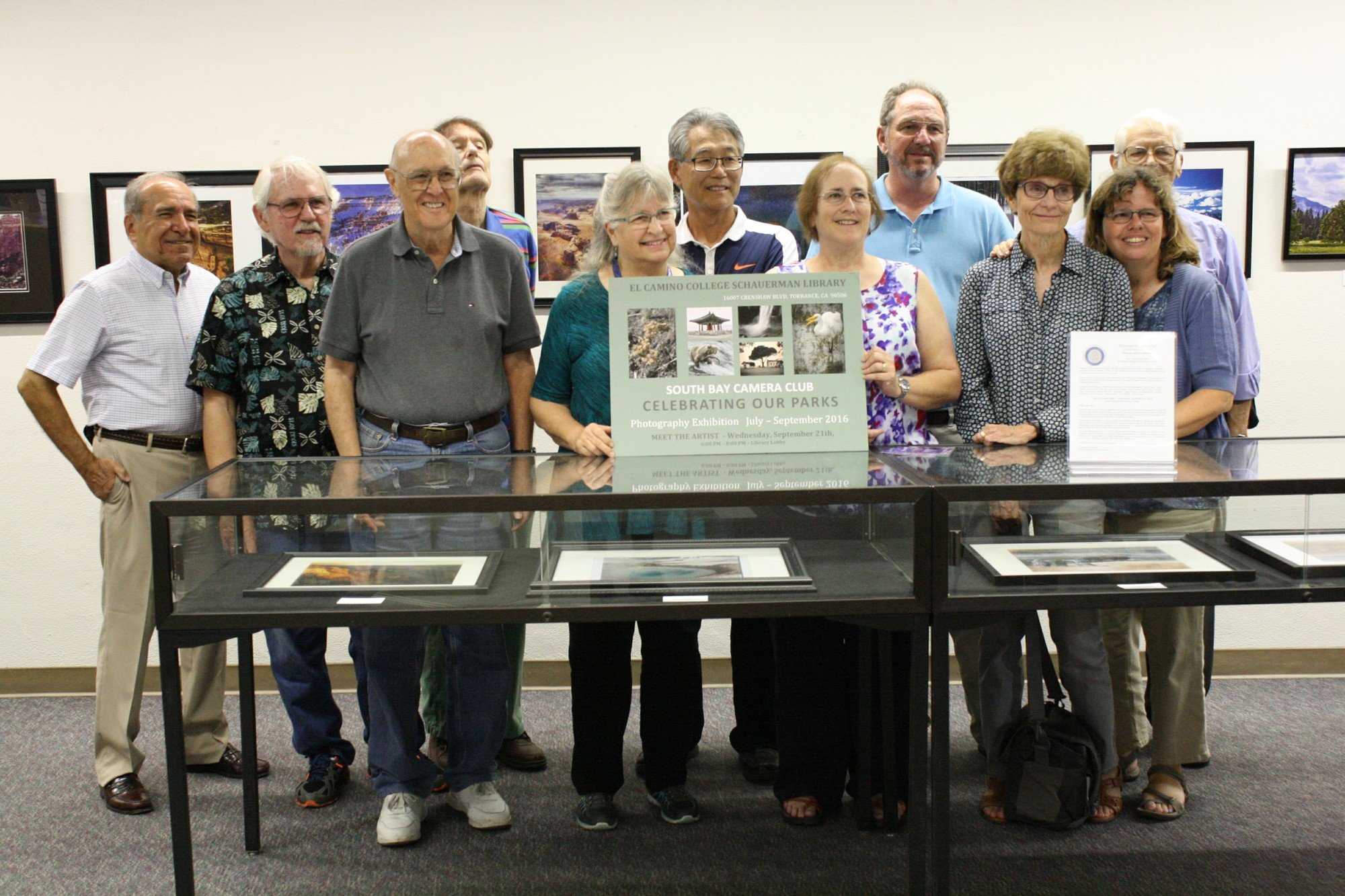 The South Bay Camera Club represents their latest photo exhibit,