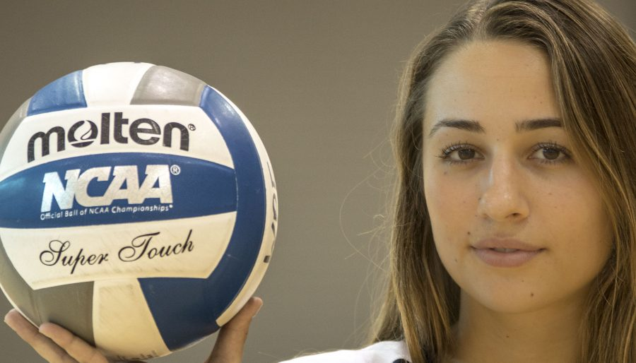 Sophomore runs up the numbers on the court for women's volleyball team
