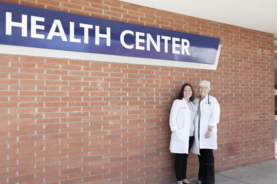 Susan Nilles and Deborah Herzik are both nurse practitioners for the Health Center. Herzik has been at EC for over 20 years while Nilles started her career at EC just last semester. Photo credit: Jo Rankin