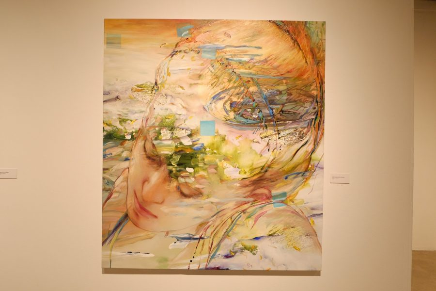 Julia Dreaming in the Universe, acrylic on canvas, 2010, is part of the