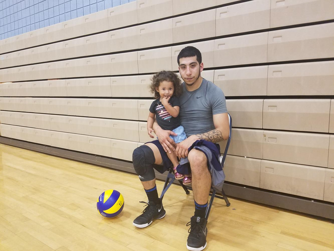 Volleyball player juggles fatherhood and being a star athlete