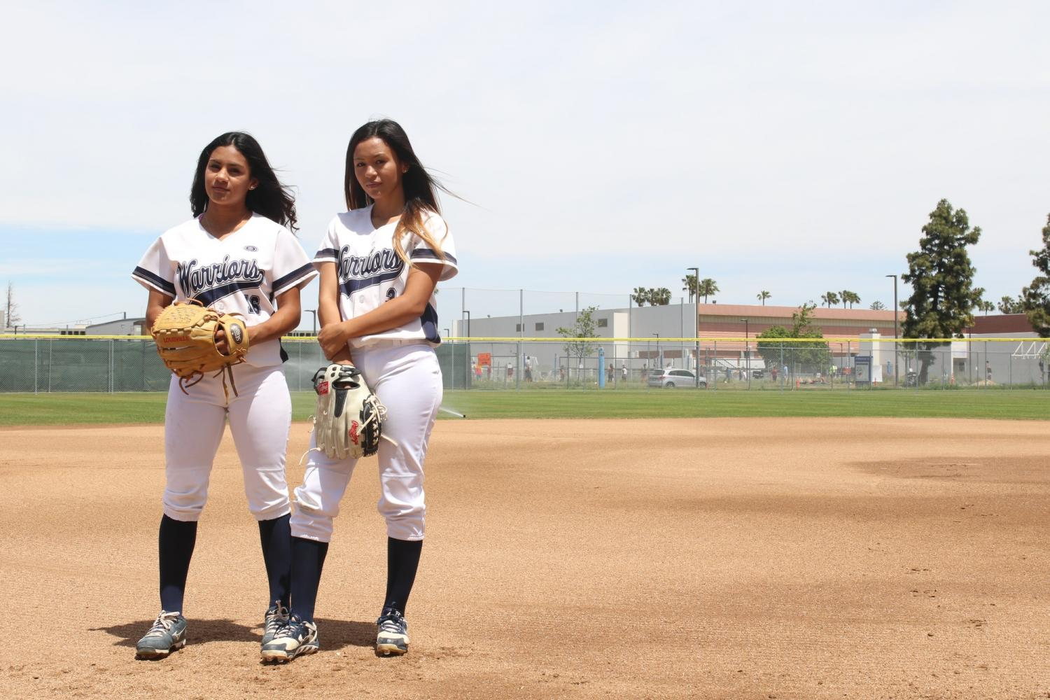 Two sisters bond through their love of softball