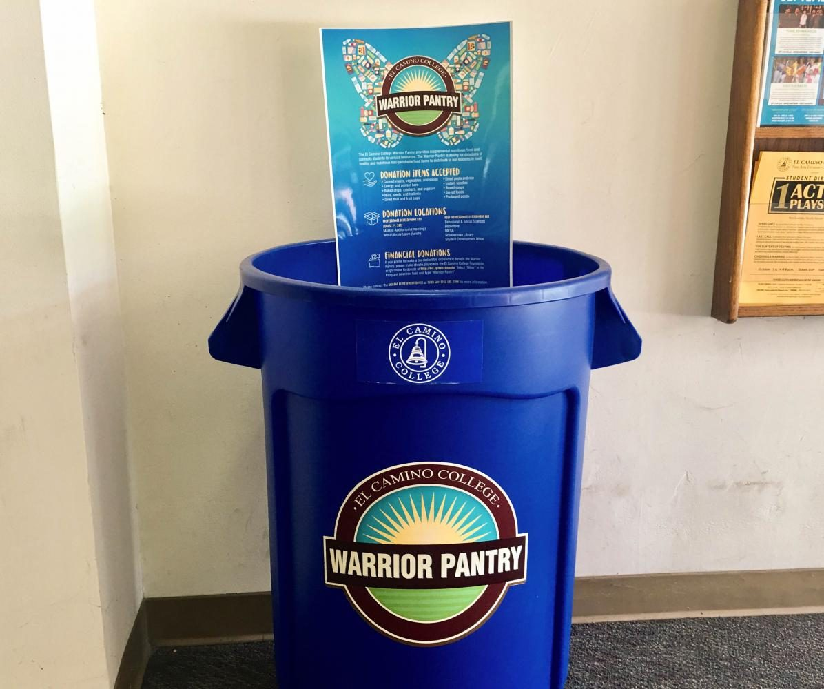One of the several donation bins located inside the Schauerman Library. Photo credit: Alissa Lemus