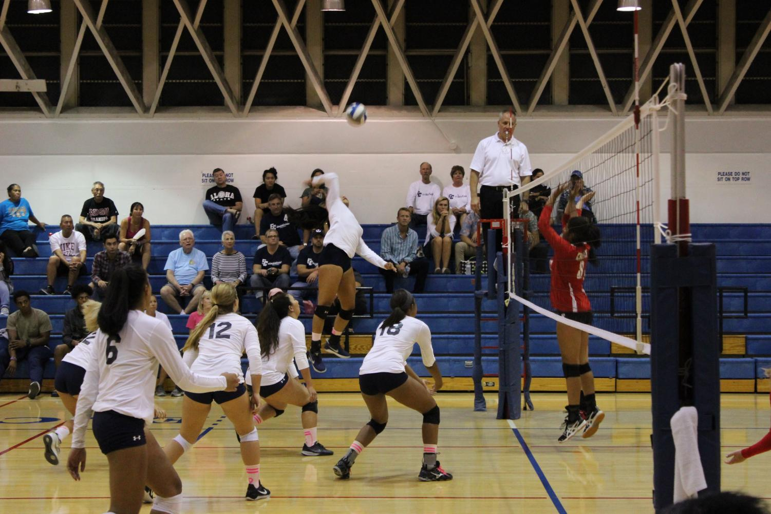 Women's volleyball team pummel Chaffey