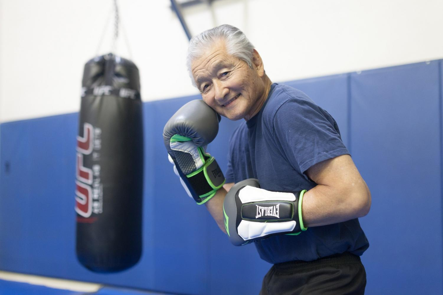 Mits Yamashita, 75, is a part-time boxing instructor, who first learned the art of jiu jitsu before becoming prolific in boxing training with the likes of Chuck Norris and Bruce Lee.