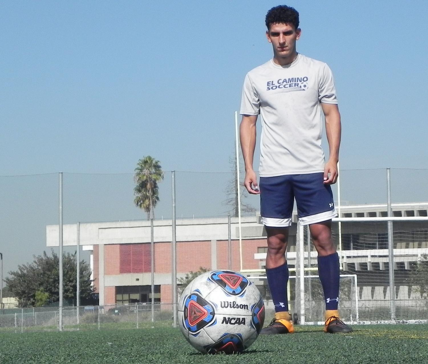 Men's soccer forward makes good on his chances