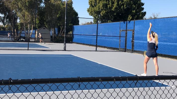 Womens' tennis team falls short in match against Irvine Valley College