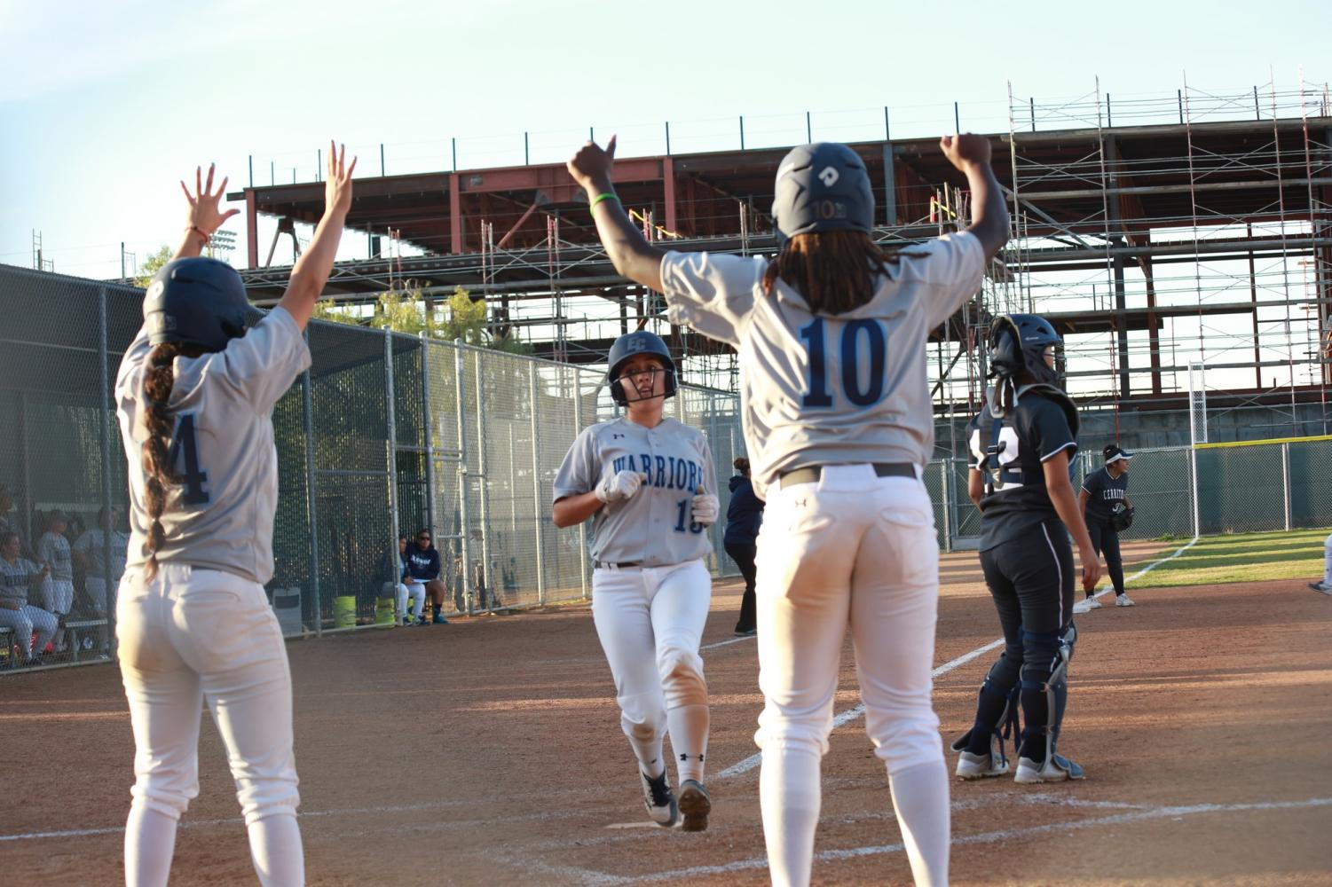 Softball team secures win against Cerritos