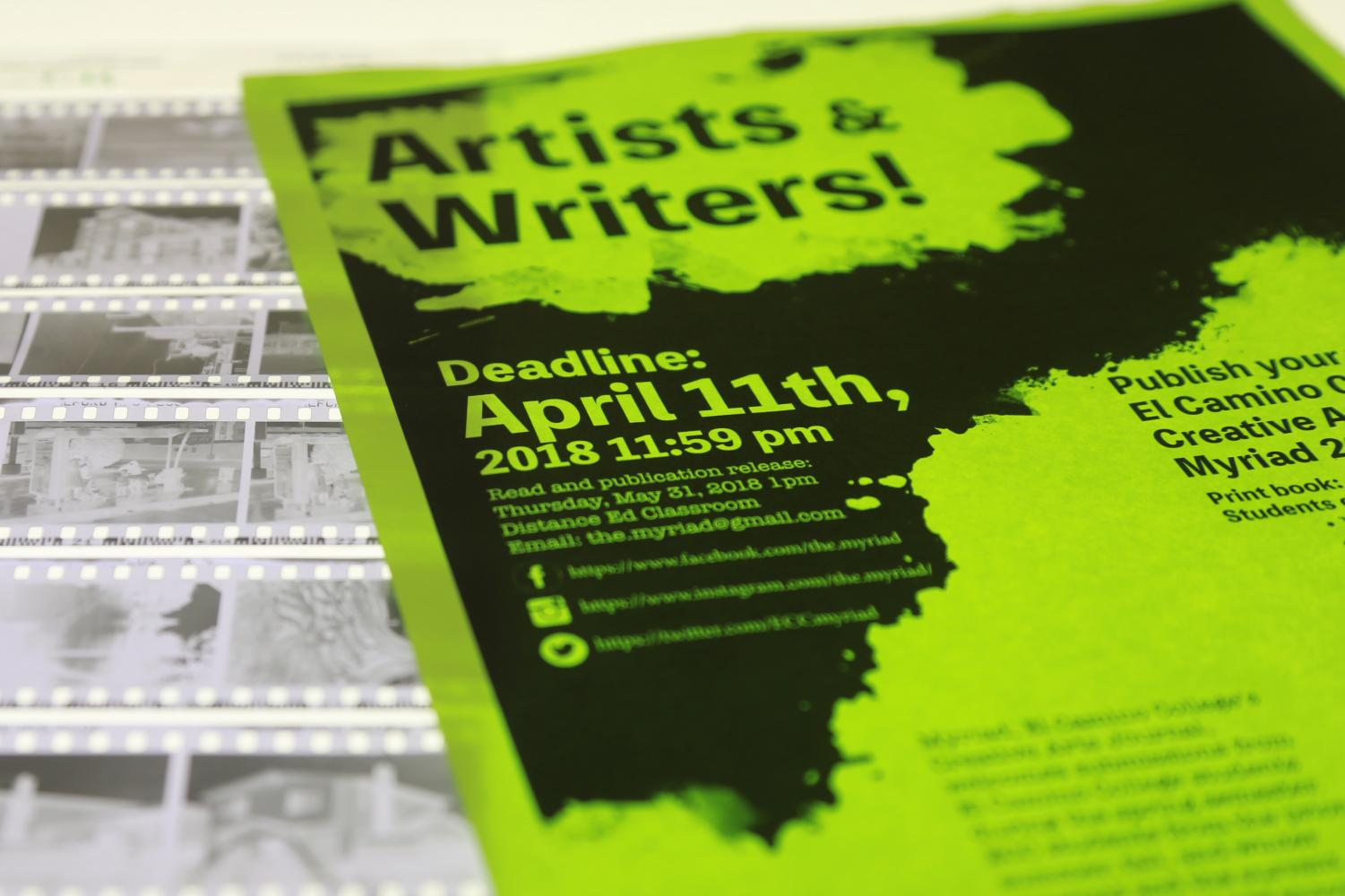 EC creative arts journal accepting spring submissions