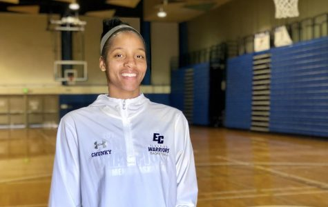 Sophomore, Kayla Bibb, 21, film major has played foreward for EC women's basketball for two seasons, gathering multiple trophies and awards including SCC Player of the Year.