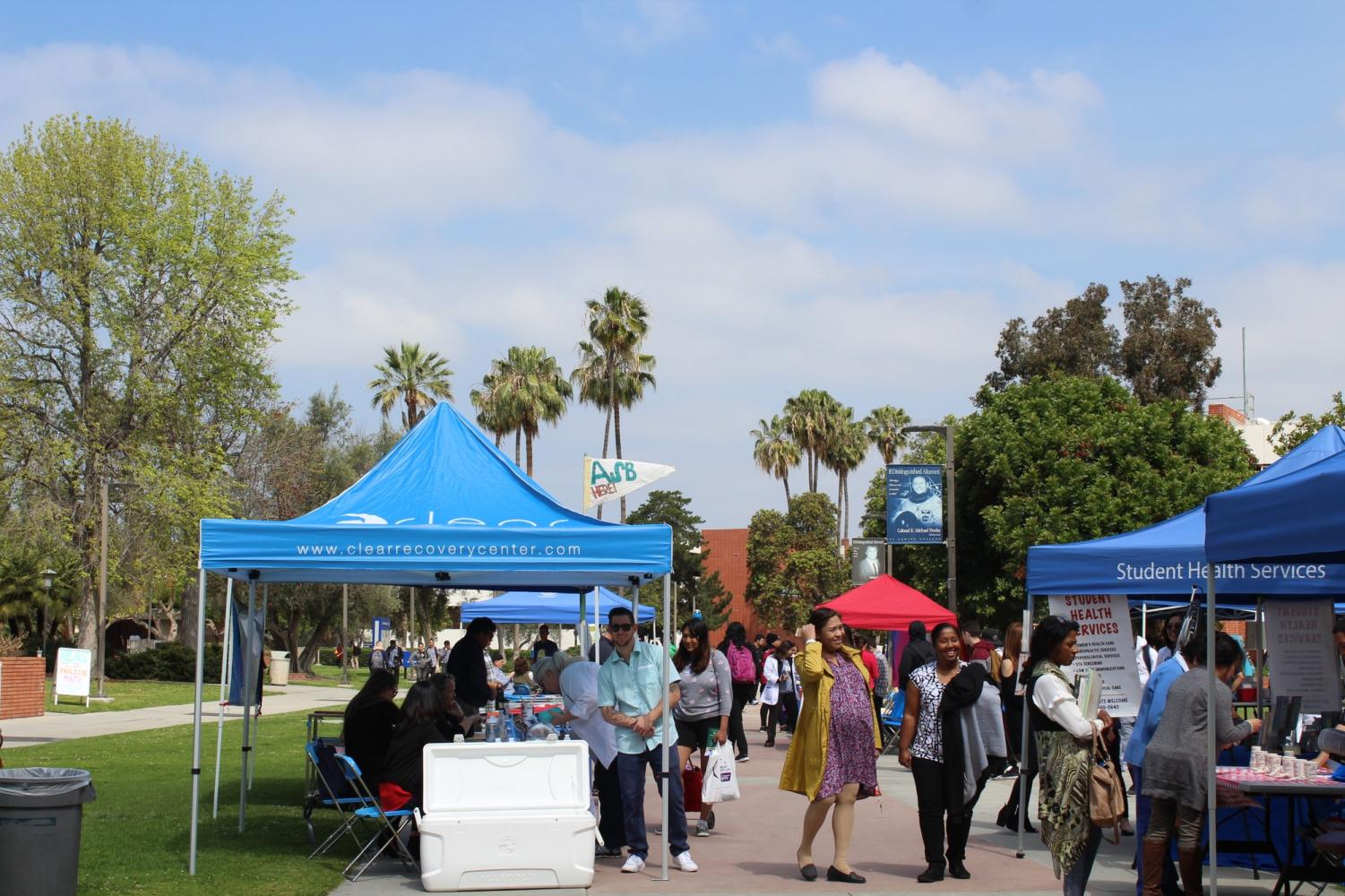 Spring Health Fair taking place on Library Lawn today until 2 p.m.